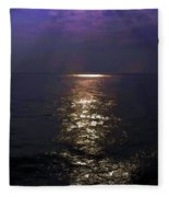 Rays Of Light Shimering Over The Waters Fleece Blanket