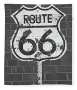 Route 66 Shield Fleece Blanket
