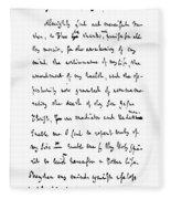 Samuel Johnson (1709-1784) Fleece Blanket