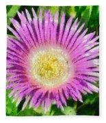 Spring Wild Flower Fleece Blanket