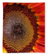 Sunflower From The Color Fashion Mix Fleece Blanket