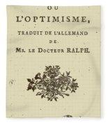 Voltaire Candide Fleece Blanket