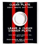 Wwi Food Supply, 1917 Fleece Blanket