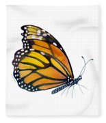 103 Perched Monarch Butterfly Fleece Blanket