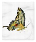 104 Perched Swallowtail Butterfly Fleece Blanket
