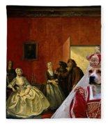 American Staffordshire Terrier Art Canvas Print Fleece Blanket