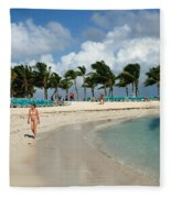 Beach At Coco Cay Fleece Blanket