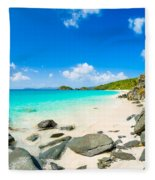 Beautiful Caribbean Beach Fleece Blanket