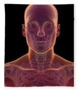 Bones Of The Head And Neck Fleece Blanket