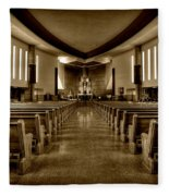 Church Of Saint Columba Fleece Blanket