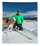 Colorado Cross Country Skiing Fleece Blanket