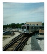 Cta's Retired 2200-series Railcar Fleece Blanket