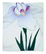 Japanese Flower Fleece Blanket