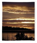 Outer Banks North Carolina Sunset Fleece Blanket