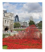 Remembrance Poppies At The Tower Of London Fleece Blanket