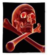 Skull And Crossbones Fleece Blanket
