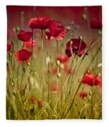 Summer Poppy Fleece Blanket