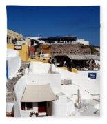 Views From Santorini Greece Fleece Blanket