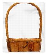 Wicker Basket Number Two Fleece Blanket