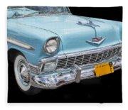 1956 Chevrolet Bel Air Convertible Fleece Blanket