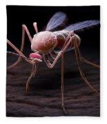 Anopheles Mosquito Fleece Blanket