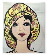 Flapper Girl Claire Fleece Blanket