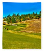 #12 At Chambers Bay Golf Course - Location Of The 2015 U.s. Open Championship Fleece Blanket