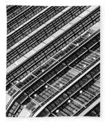 Canary Wharf London Abstract Fleece Blanket