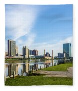 City Skyline Fleece Blanket