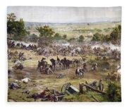 Civil War Gettysburg Fleece Blanket