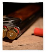 12 Gauge Over And Under Shotgun Fleece Blanket