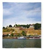 Kalemegdan Fortress In Belgrade Fleece Blanket