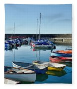 Lyme Regis Harbour Fleece Blanket