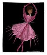 12 Pink Ballerina Fleece Blanket