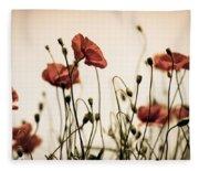 Poppy Meadow Fleece Blanket