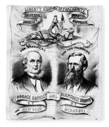Presidential Campaign, 1872 Fleece Blanket