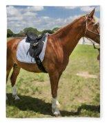 Rocking Horse Stables Fleece Blanket