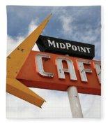 Route 66 Cafe Fleece Blanket