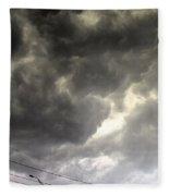 Severe Warned Nebraska Storm Cells Fleece Blanket