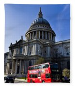 St Paul's Cathedral London Fleece Blanket