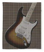 12 Thousand Electric Guitars Fleece Blanket