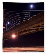 Veterans Glass City Skyway Bridge Fleece Blanket