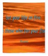 120- Rumi Fleece Blanket