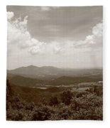 Blue Ridge Mountains - Virginia Sepia 8 Fleece Blanket