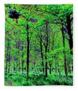 Forest Art Fleece Blanket