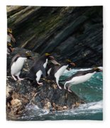 Macaroni Penguin Fleece Blanket