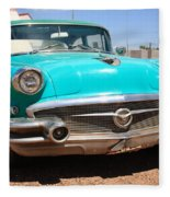 Route 66 Classic Car Fleece Blanket