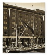 St Katherine's Dock London Fleece Blanket