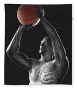 Basketball Shot Fleece Blanket
