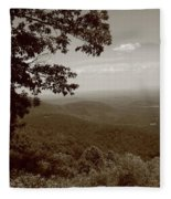 Blue Ridge Mountains - Virginia Sepia 9 Fleece Blanket